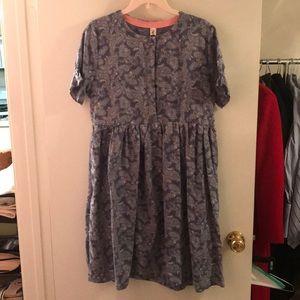 Dresses - NEED GONE Blue Floral Pattern Dress